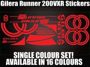 Gilera Runner VXR 200 Large Decals/Stickers 180 200 210