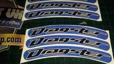 Italjet Dragster Rim tape Wheel stickers EXCLUSIVE 50 70 125 172 180 183 Style D