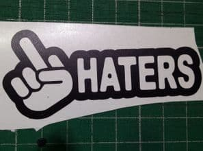 Middle Finger Haters decal