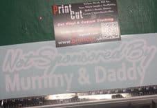 Not Sponsored By Mummy & Daddy Sticker/ Decal Car, Van, Bike, Scooter,