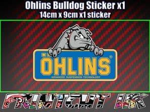 Ohlins Bulldog Decal Sticker x1 Suspension car van Bike Shock motorcycle biker