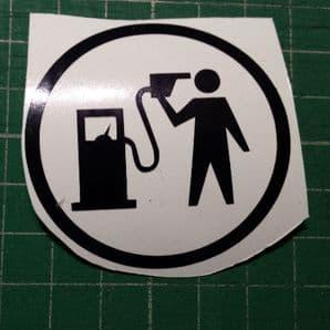 Petrol Pump suicide decal