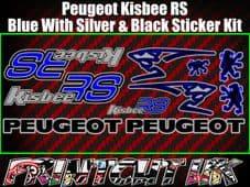 Peugeot Kisbee RS Decals/Stickers Blue Silver Black Multicolour