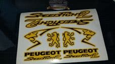 Peugeot Speedfight 2 Sticker/Decal Set  *YELLOW & BLACK* 50, 70, 100, speedy pug