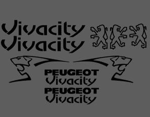 Peugeot Vivacity Decals/Stickers