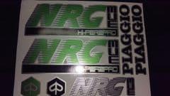 Piaggio NRG MC3 Decals / Sticker kit graphics Green/Silver/Black