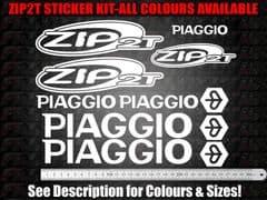 Piaggio Zip 2T Sticker Kit 50, 70, 125, 172, 180, 183,