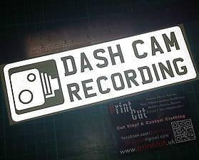 REFLECTIVE DASH CAM  RECORDING  Sticker x1 Car, Van, Lorry, Truck, Boat, safety