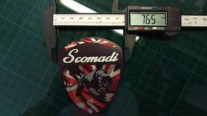 Scomadi Logo Badge UNION JACK Printed Decal Sticker innocenti mod nos vinyl