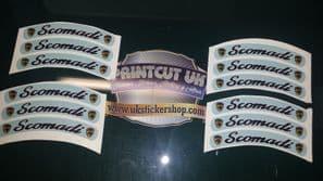 Scomadi Rim tape Wheel stickers 50 125 300 TL Turismo Leggera EXCLUSIVE DESIGN D