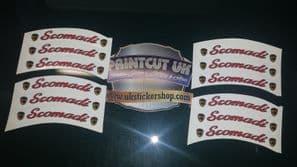 Scomadi Rim tape Wheel stickers 50 125 300 TL Turismo Leggera EXCLUSIVE DESIGN E