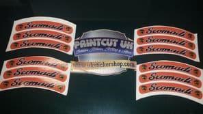 Scomadi Rim tape Wheel stickers 50 125 300 TL Turismo Leggera EXCLUSIVE DESIGN F