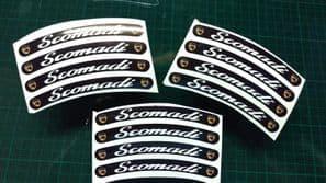 Scomadi Rim tape Wheel stickers 50 125 300 TL Turismo Leggera EXCLUSIVE DESIGN k