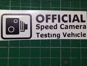 Speed Camera Testing Vehicle decal