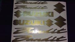 SUZUKI BANDIT DECALS/ STICKERS GOLD & SILVER restoration, respray etc