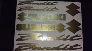 SUZUKI BANDIT DECALS/ STICKERS GOLD & SILVER restoration, respray etc