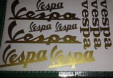 Vespa-10 assorted Stickers, GT, GTS, LX, ET, PX, GS, PK