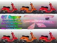 Vespa GTS Super Decal / Sticker Kit GT (aftermarket)