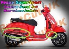 Vespa GTS Super Sport Decal / Sticker Kit GT custom aftermarket