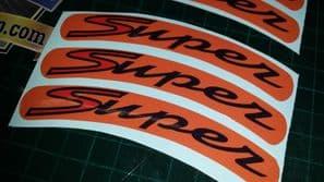 Vespa GTS Super Sport Rim tape Wheel stickers EXCLUSIVE DESIGN 4 125 200 250 300