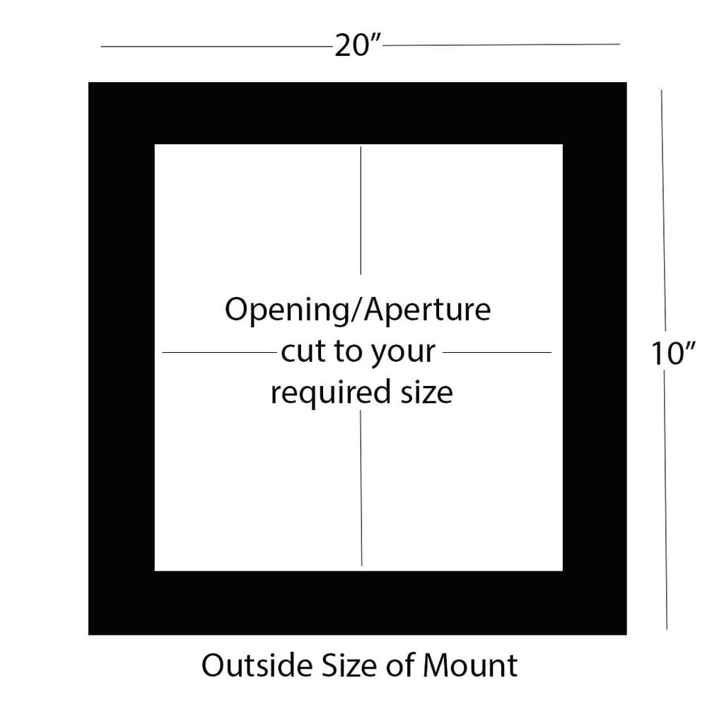 """20"""" x 10"""" External Size Double Mount, Back Board & Bag - Panoramic"""