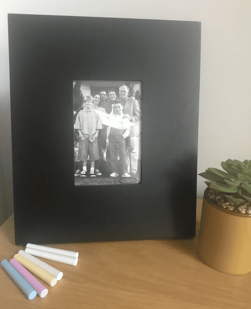 Chalk Board Picture Frame