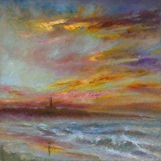 Kate Van Suddese Greeting Card - A Beautiful Walk - Longsands Tynemouth