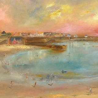 Kate Van Suddese Greeting Card - A Day Like This - Cullercoats