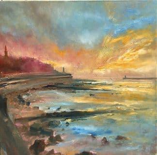 Kate Van Suddese Greeting Card - The Seaside Walk - North Shields