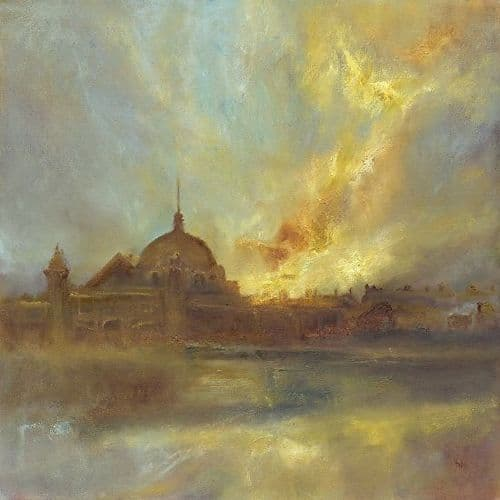 Kate Van Suddese Greeting Card - Two Worlds Meet - Spanish City