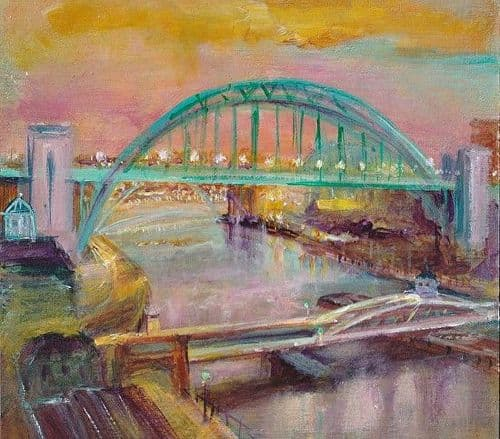 Kate Van Suddese Greeting Card - When You See The Bridge You Know You're Home - Newcastle