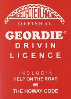 Offishal Geordie Drivin' Licence