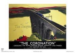 The Coronation - Berwick - Railway & Travel Poster