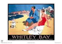 Whitley Bay - Beach - Railway & Travel Poster