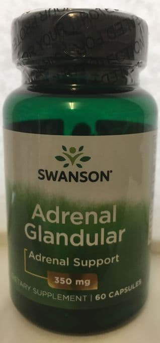 Adrenal Glanular by Swanson - 350 mg 60 capsules