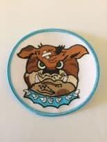 525 FS Bulldog Embroidered Badge