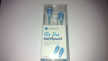 Audiomaster Flip Flop Novelty Earphones