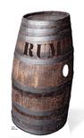 Barrel 'o' Rum Life-Size Cut Out / Prop