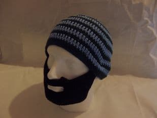 Beanie Hat with attached Beard