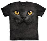 BIG FACE BLACK CAT T-SHIRT