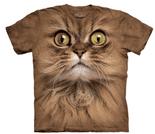 BIG FACE BROWN CAT T-SHIRT