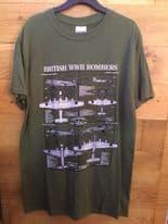 British WW2 Bombers Military Design T-Shirt