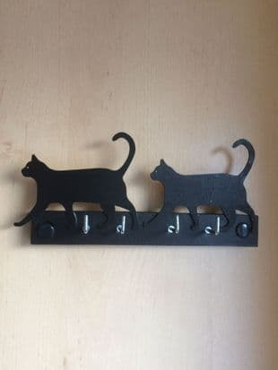 Cats on a Key Rack
