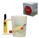 Cricket Bat & Ball Shaped Handle Mug