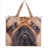 Cute Pug Face Shopping Bag