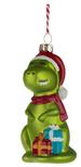 Dinosaur Glass Christmas Bauble Decoration