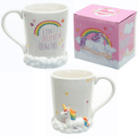 Enchanted Unicorn Rainbow Clouds Mug