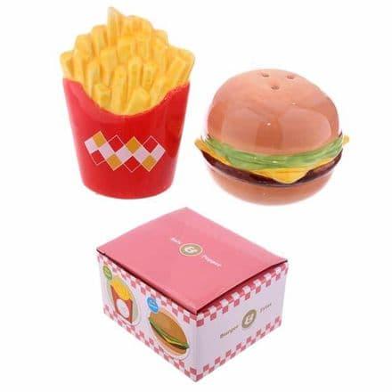 Fast Food Burger And Chips Salt And Pepper Set