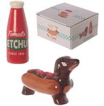 Fast Food Sausage Dog and Ketchup Salt & Pepper Set