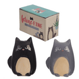 Feline Fine Black & Grey Cat Salt & Pepper Set